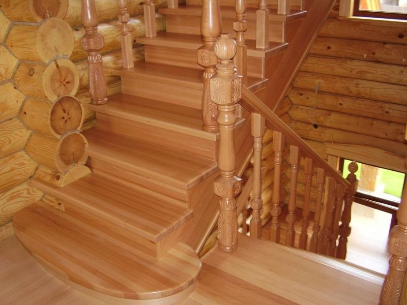 construction of wooden stairs